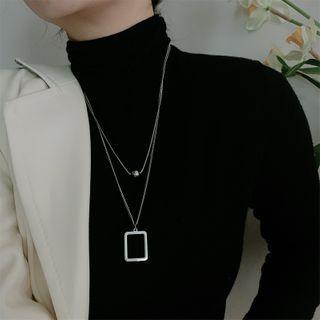 Juanitro - Set: Ball Pendant Necklace + Rectangle Pendant Necklace