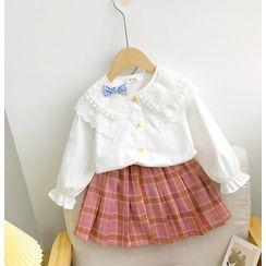 Shaneebabe - Kids Plaid Pleated Mini Skirt