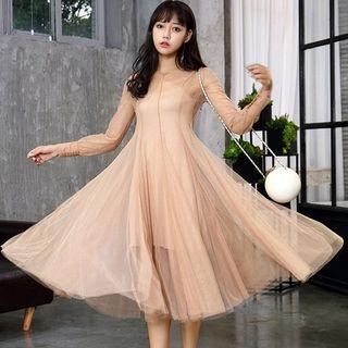Everose - Tulle A-Line Midi Dress