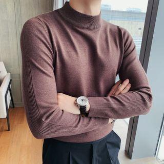 NYEON - Mock Turtleneck Long-Sleeve Knit Top