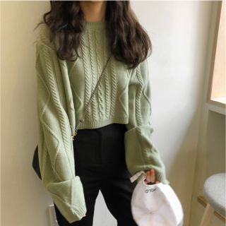 Moon City - Crew-Neck Cable-Knit Sweater