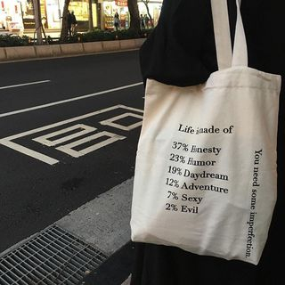 Eastin - Letter Canvas Tote Bag