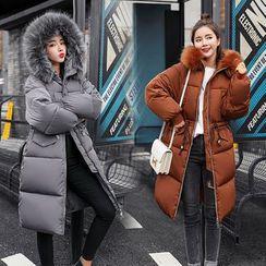 Frigga(フリガ) - Padded Hooded Zip-Up Coat