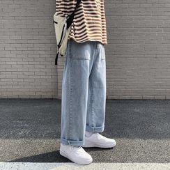 Aeroch - 水洗寬腿牛仔褲