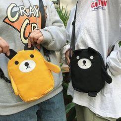 Behere - Bear Canvas Crossbody Bag