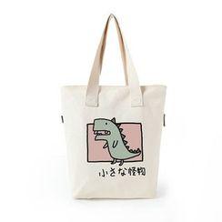 Lozynn - 恐龍印花帆布手提袋 / 短袖恐龍印花T恤 / 套裝