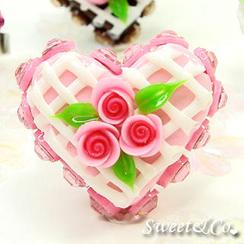 Sweet & Co. - Mini Pink Cake Swarovski Crystal Cake Ring