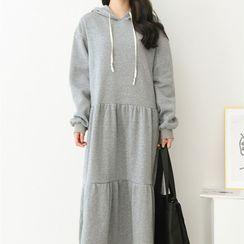 Oscuro - Midi Hoodie Dress