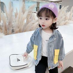 Ohori - Kids Color Block Denim Jacket