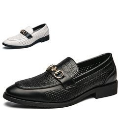 WeWolf - Genuine-Leather Metal-Accent Loafers