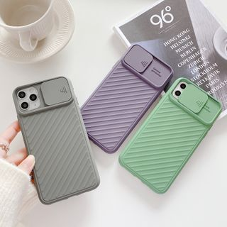 Drawnin - Textured Phone Case with Lens Cover - iPhone 11 Pro Max / 11 Pro / 11 / XS Max / XS / XR / X / 8 / 8 Plus / 7 / 7 Plus / 6s / 6s Plus