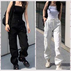 Genrovia(ジェンロビア) - Straight Leg Cargo Pants