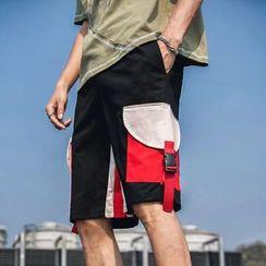 Wescosso - Color Block Cargo Shorts