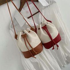 BAGuette - Faux Leather Shoulder Bucket Bag