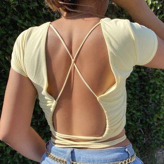 FYDO - 短袖露背上衣
