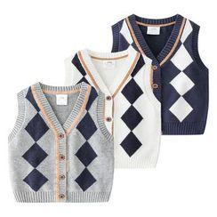 Seashells Kids - Kids Patterned Knit Vest