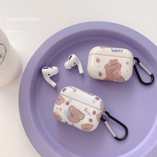 Handy Pie - Bear Print AirPods / Pro Earphone Case Cover