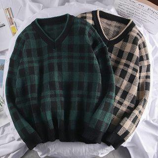 Wescosso(ウェスコッソ) - Plaid Sweater