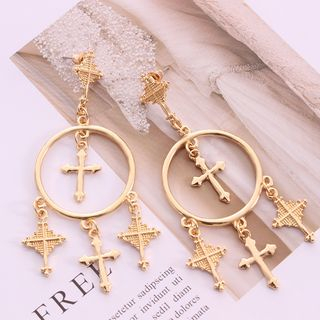 Ignar - Alloy Cross Fringed Earring