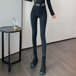 Attune(アチューン) - High-Waist Skinny Cropped Jeans