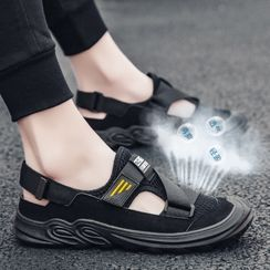 TATALON - Mesh Panel Platform Sandals