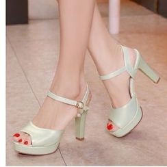 Freesia - Peep Toe Platform High Heel Sandals