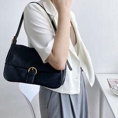 Neztra - Buckled Flap Shoulder Bag