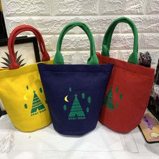 Hyole - Printed Canvas Insulated Lunch Bag