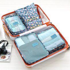 Lazy Corner - Set of 6: Printed Travel Organizer Bag