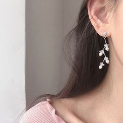 MOMENT OF LOVE - 925 Sterling Silver Faux Pearl Dangle Earring