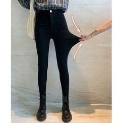 Jalynn - 高腰紧身铅笔裤