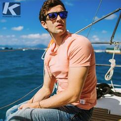 Quincy King - Short-Sleeve Plain T-Shirt