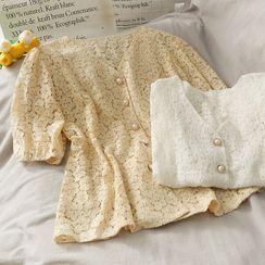 Lemongrass - Button-Down V-Neck Shirt