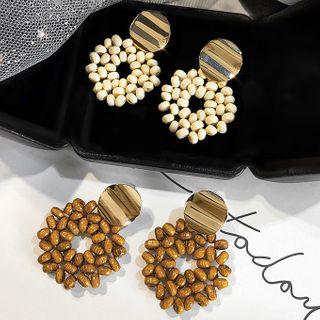 LIVSIA - Wooden Bead Dangle Earring