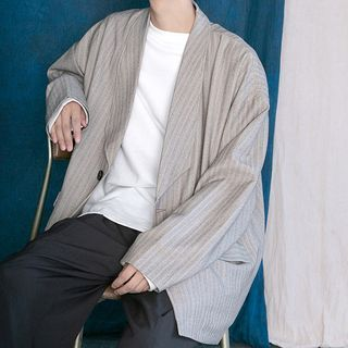 Crutis - Striped Single-Button Blazer