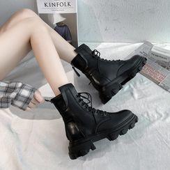 clog & wings - 繫帶短靴