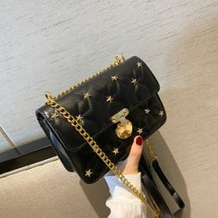 Necessita - Star Studded Quilted Crossbody Bag
