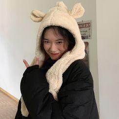 CIMAO - 熊耳帽围巾