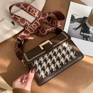 Lizzy - Houndstooth Crossbody Bag
