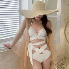 Tefiti - Crisscross Halter Bikini