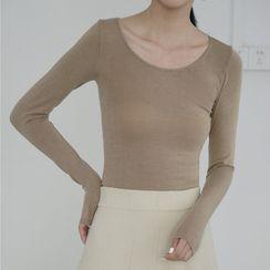 SHINSHIN - Plain Long-Sleeve T-Shirt