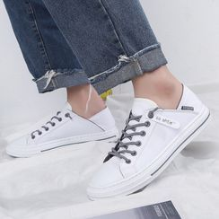 Tanzanite - Lace Up Canvas Sneakers