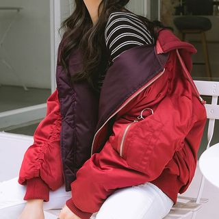 Kokuko - Padded Bomber Jacket with Hood