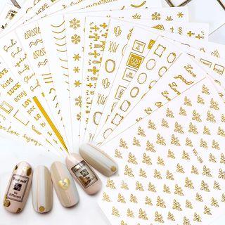 WGOMM - Metallic Nail Art Stickers
