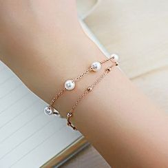 Creole - Beaded Layered Bracelet