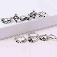 Bling Thing - 套裝: 復古合金戒指 (多款設計)