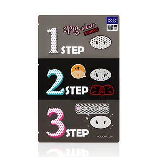 HOLIKA HOLIKA - Pig Clear Black Head 3-Step Kit Strong