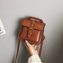 Beebird(ビーバード) - Mini Faux Leather Crossbody Satchel
