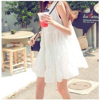 YOSH - Floral Print Sleeveless Babydoll Dress