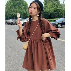 Whoosh - Crew-Neck Long-Sleeve Babydoll Dress
